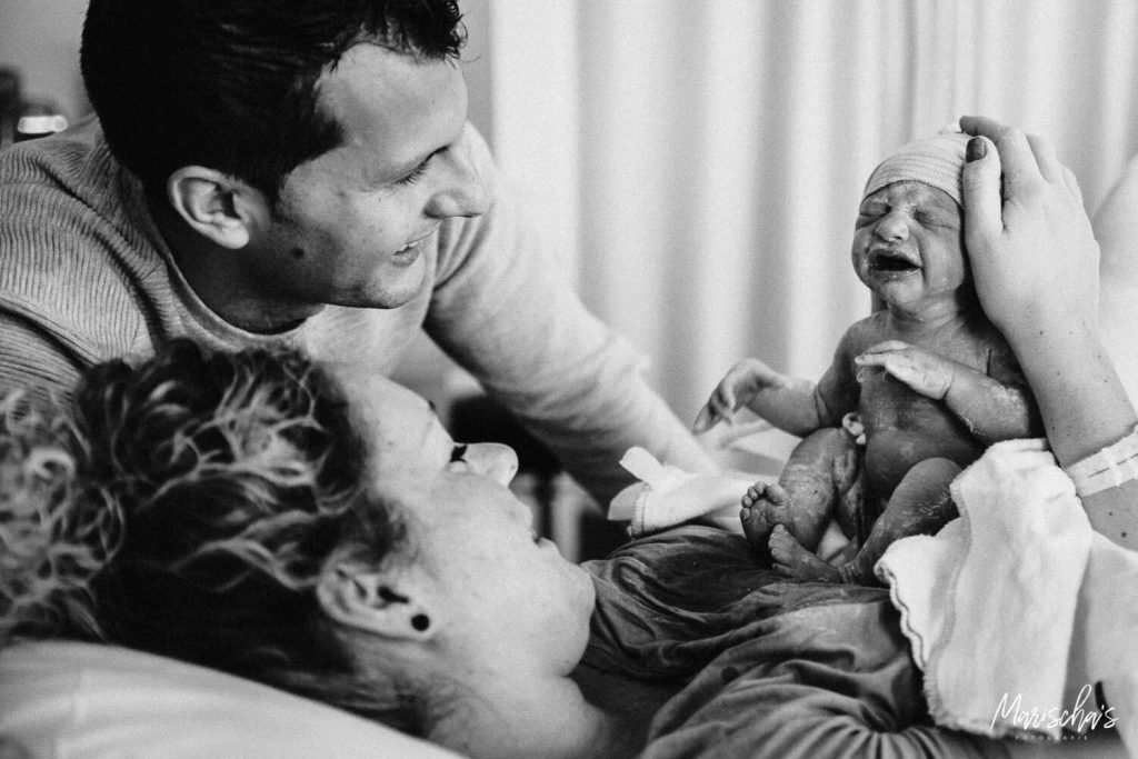 Geboortefotograaf voor een bevalling in het ziekenhuis Viecuri in Venray