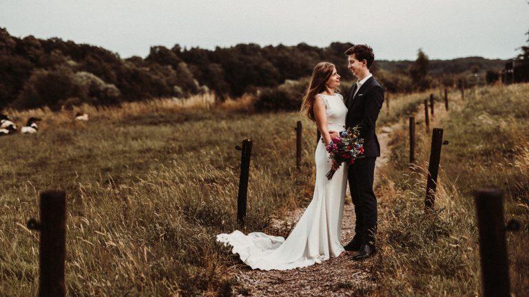 trouwfotograaf voor een trouwreportage bij kasteel vaalsbroek in vaals
