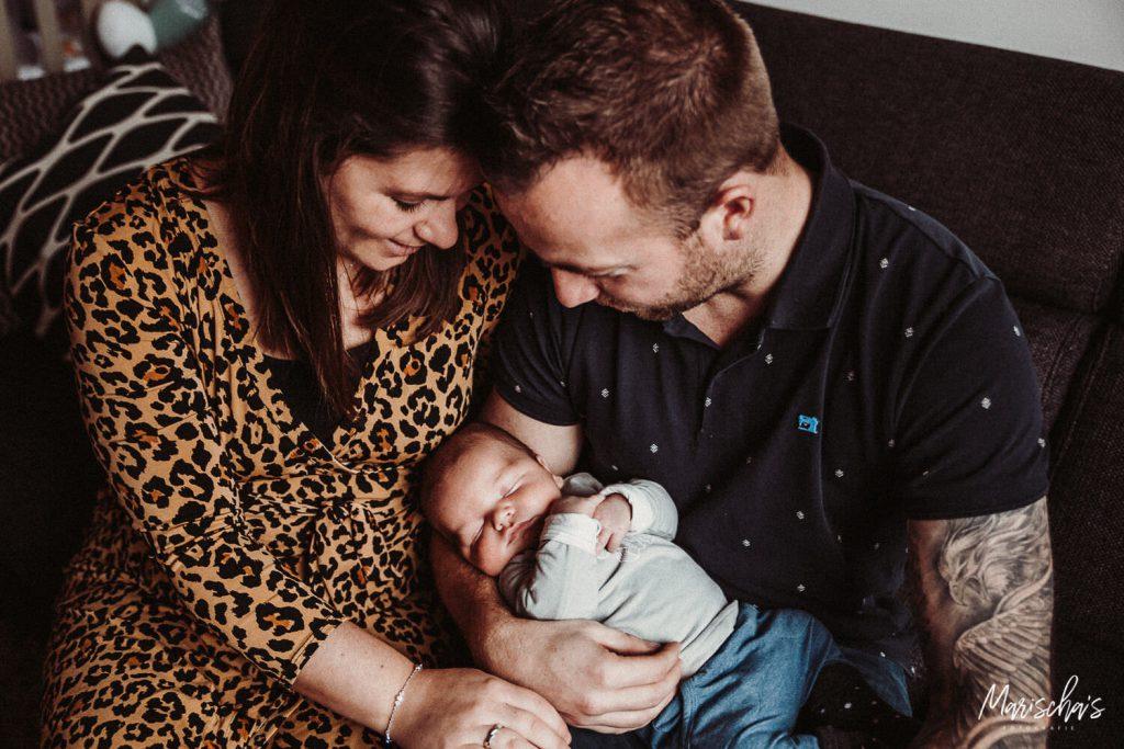 nebworn fotografie bij de ouders thuis in limburg