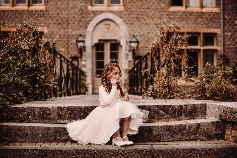 communie fotoshoot bij kasteel terworm in parkstad