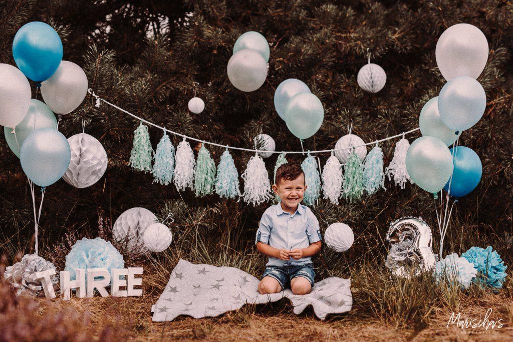 Verjaardags fotoshoot op een buiten locatie in Parkstad