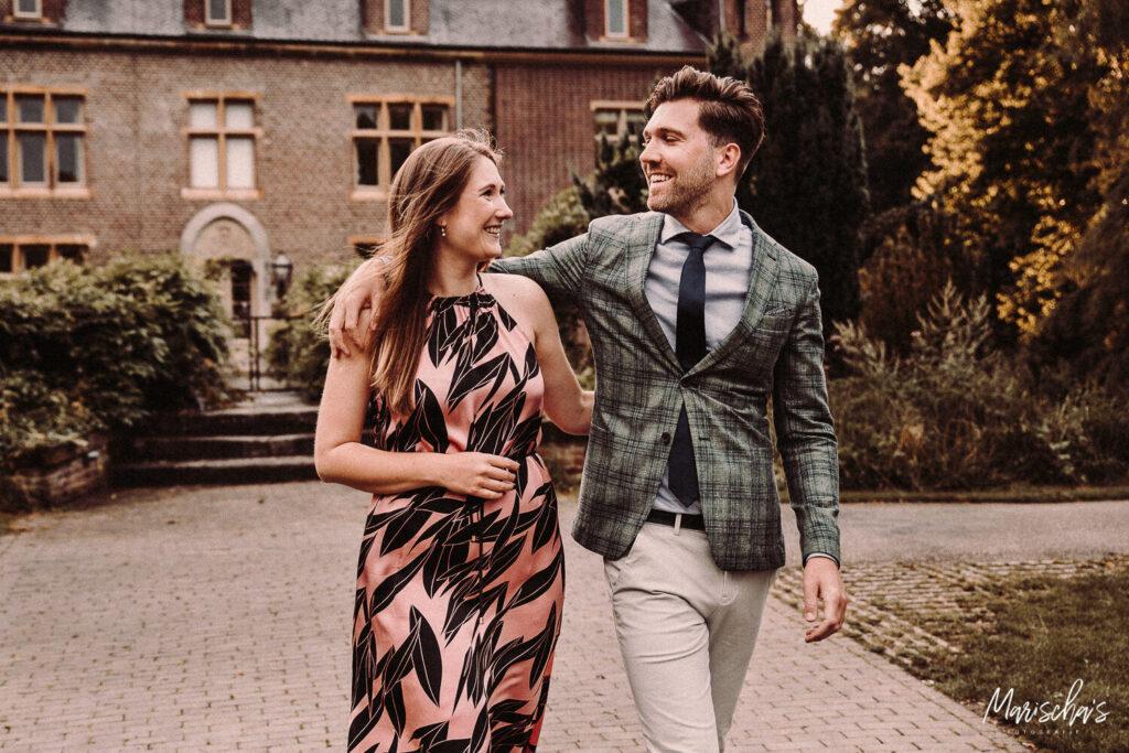 romantisch huwelijksaanzoek fotoshoot bij kasteel terworm in heerlen